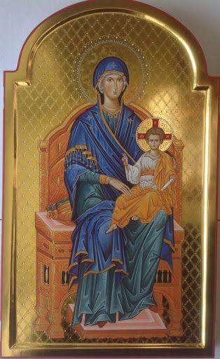 Trittico della Madre di Dio (particolare centrale), 53x32 cm