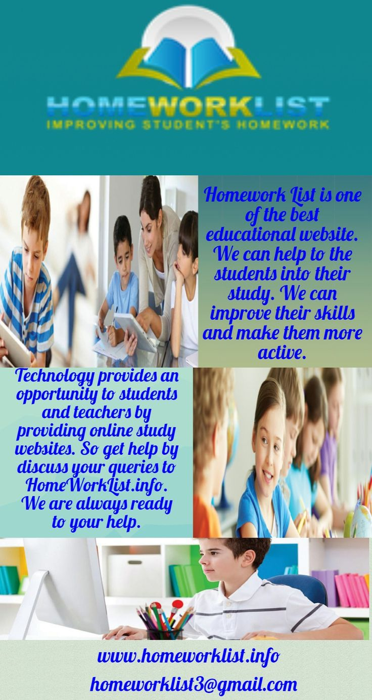 HomeWorkList.info is an education website where students can get help in their study. Because we want to make them successful in their future. Explore us today.