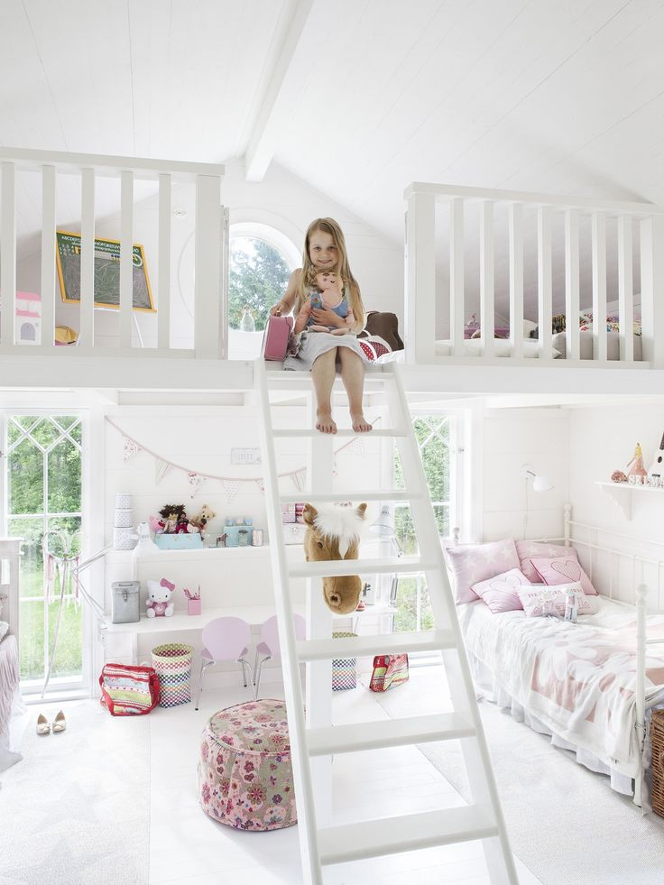 Cool kids room with loft