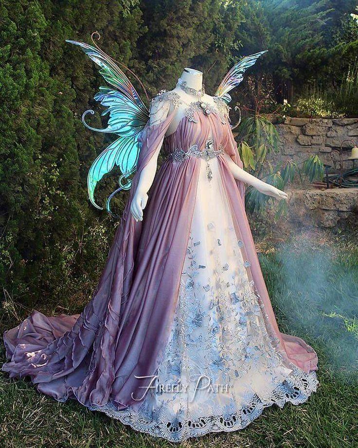Dios que vestido de hada tan bonito