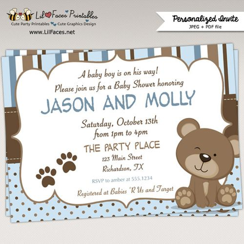 10 Best Teddy Bear Baby Shower Ideas Images On Pinterest Baby