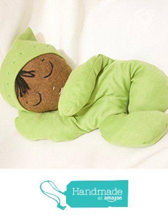 Handmade 13 inch wool blend felt sleepy African American baby boy doll from La Chulona Handmade Dolls http://www.amazon.com/dp/B01GIJ5GVO/ref=hnd_sw_r_pi_dp_sNouxb16NSF38 #handmadeatamazon