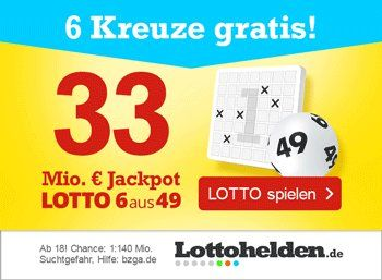 Zwangs-Ausschüttung: Die besten Angebote zum Rekord-Jackpot am Samstag https://www.discountfan.de/artikel/c_gratis-angebot/zwangs-ausschuettung-die-besten-angebote-zum-rekord-jackpot-am-samstag.php Es ist soweit: Nachdem der Lotto-Jackpot zwölfmal in Folge nicht geknackt wurde, ist am kommenden Samstag eine Zwangsausschüttung fällig. Discountfan.de präsentiert die besten Angebote zum diesjährigen Rekord-Jackpot: Mit dabei: 33 Euro Gratis-Guthaben und kostenlose Spielf