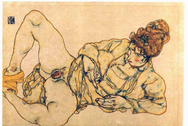 Ξαπλωμένη γυμνή γυναίκα (1916)