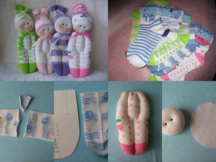 Mu ecos hechos con calcetines hazlo tu misma pinterest for Munecos con calcetines