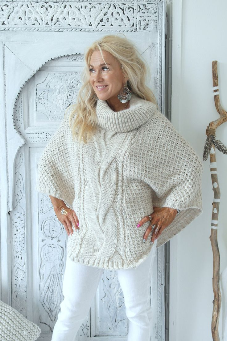 Chunkyknit Poncho, LUONNONVAALEA - Neuleet - By Pia's Design