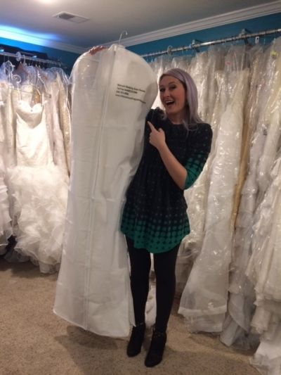 This bride's very happy after finding her dream gown at Midsouth Wedding Gown Sales and Rentals! Click the image to learn more about finding yours today! Photo credit: Midsouth Wedding Gown Sales and Rentals