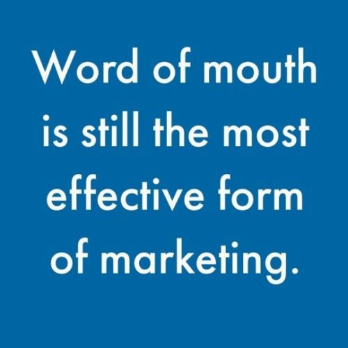 Word of mouth is so important - get reviews for your business online; the #digital version of word of mouth! #digitalmarketing #marketingtip