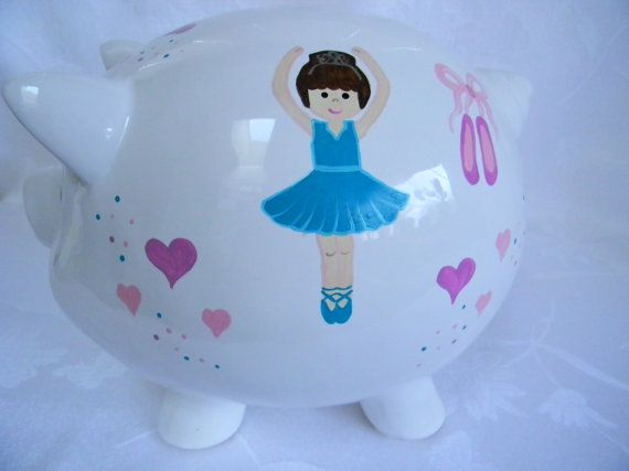 Piggy bank personalized piggy bank piggy bank by ThePiggyBankShop