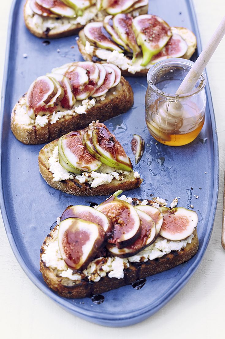 Fresh figs served on toasted sourdough with creamy ricotta, a drizzle of aged balsamic vinegar and freshly ground black pepper. Find the recipe on the Waitrose website.