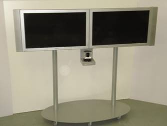 Dual LCD Stand with camera mount