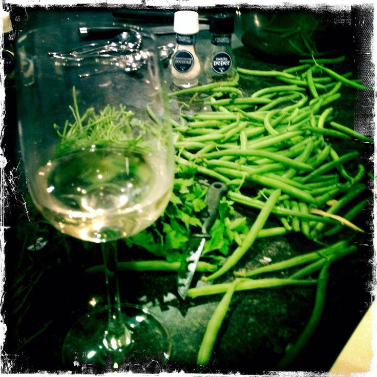 White Wine.Green Beans.