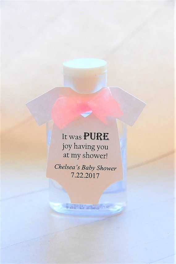 10 Tags Hand Sanitizer Gift Tags Baby Onesie Gift Tags Baby