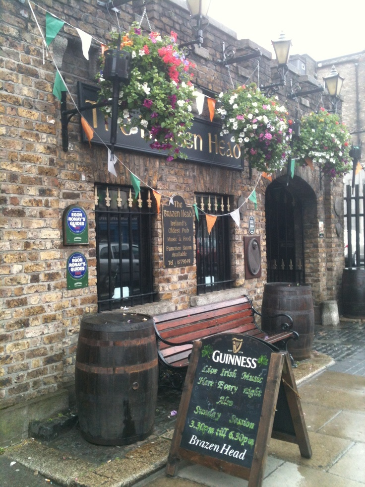 Brazen Head Pub,Dublin, Ireland. Oldest pub in Ireland, supposedly.