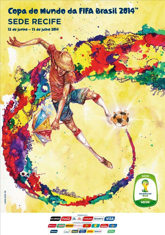 The posters of the 12 host cities of the FIFA World Cup 2014 (Brazil) - Recife