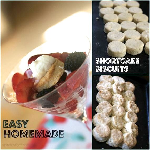 Strawberry Shortcake with Real shortcake biscuits by angela roberts