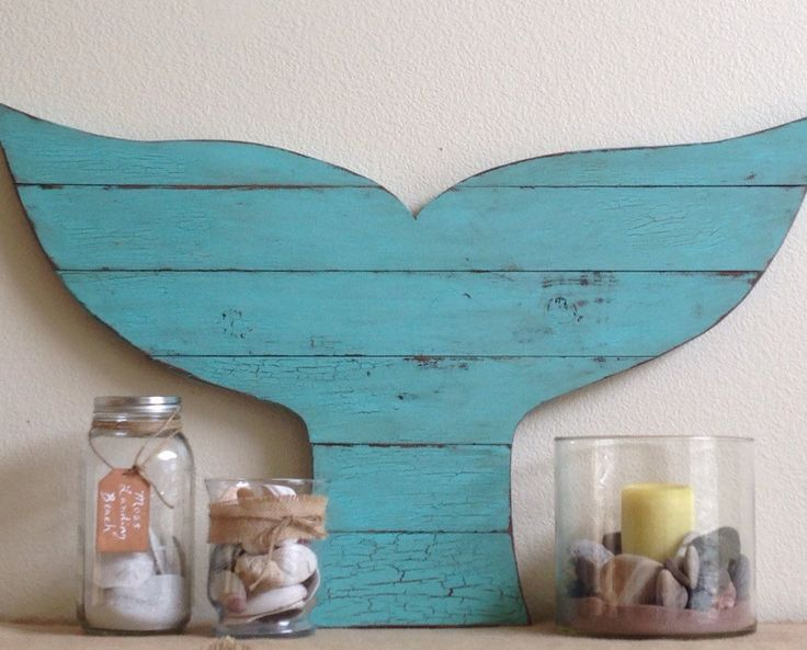 Sale Price, Over-sized Whale Tail, Distressed, Pallet Style, Rustic Beach Decor, whale decor, surf decor, Whale Art, pallet whale by NCSustainableStyle on Etsy