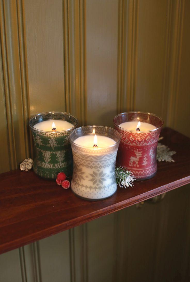 Świece świąteczne  / Christmas candles Wood Wick Frasier Fir, Cinnamon Chai, Mint Truffle
