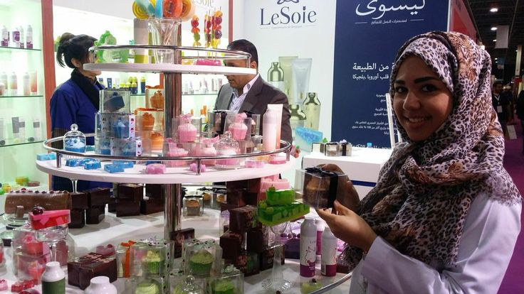 All our visitors at the Saudi Health and Beauty Show just loved our soap cupcakes which are totally natural straight from Belgium