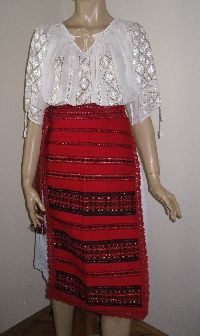 NEW hand woven Romanian traditional costume aprons from Valcea .  available at www.greatblouses.com