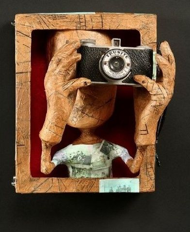 Tiffany Ownbey's work is a study of human interactions, relationships and memories...sometimes humorous and sometimes tart. Scale and proportion are intentionally manipulated for emphasis. Using paper-mâché I make figurative sculpture out of antique sewing patterns, vintage books and found objects.