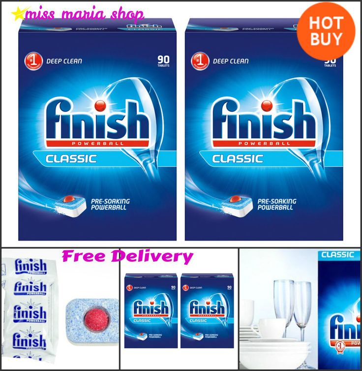 180 Finish Dishwasher Tablets Cleaner Powerball Classic 2x90 Pack 0.14p Tablet
