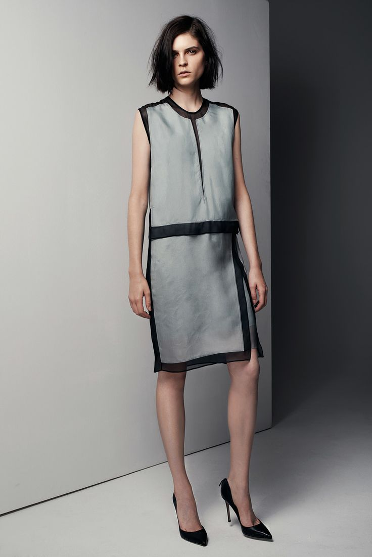 Helmut Lang Pre-Fall 2013. The sheer black makes this interesting.
