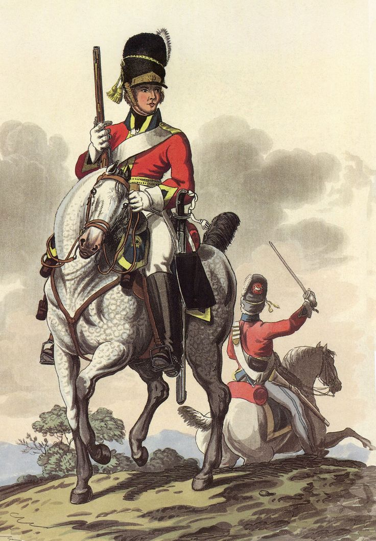 Royal Scots Greys 2nd Dragoons: Battle of Waterloo 18th June 1815: picture by Charles Hamilton Smith: buy this picture