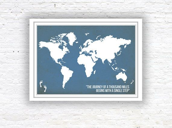 The 25 best world map wall ideas on pinterest world wallpaper world map poster world map quote poster wall decor by redpostbox gumiabroncs Choice Image