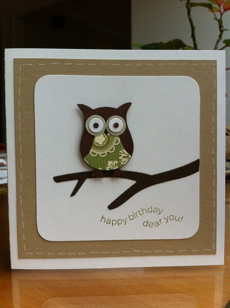 Deelish Designs: Simple Owl Card