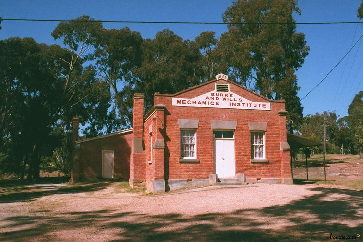 Mechanics Institute, Fryerstown. Built to commemorate the Burke & Will's expedition in 1863.
