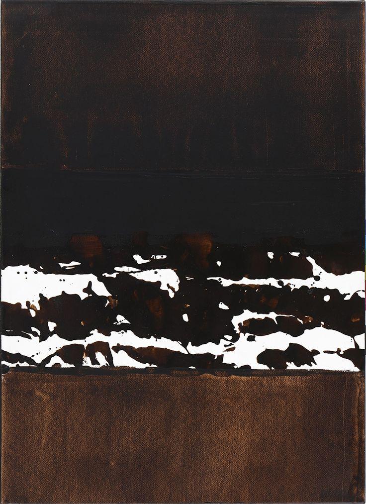 Soulages - Brou de noix sur papier 1999 (walnut on paper)  © Musée Soulages, Rodez