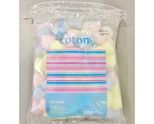 Bolas coloridas de algodão hidrófilo 100 uni