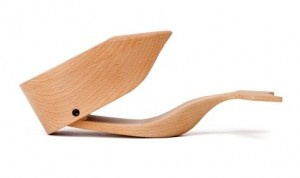 This minimalist whale box, available at Eco-artware.com, is made from sustainable wood.