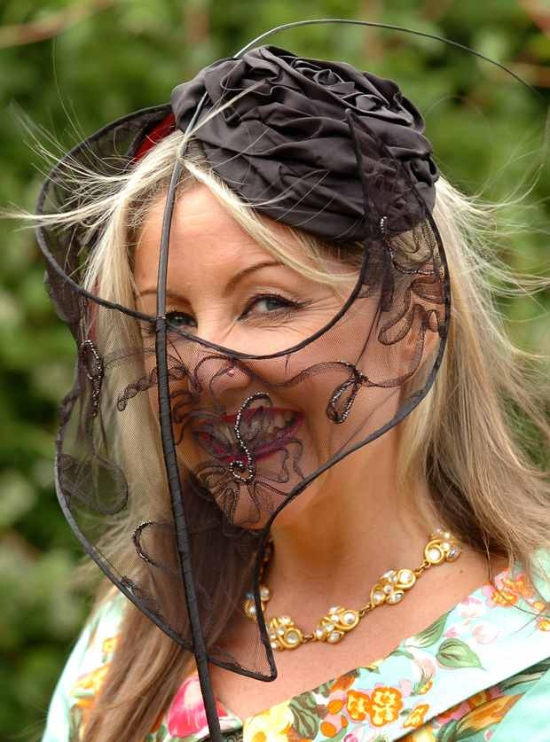 Ladies Day Hats at the Grand National, Aintree, Liverpool, UK.