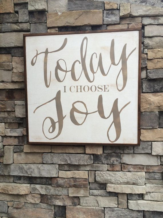 Large Wall Art Home Decor Signs Wall Hanging Inspirational Quotes Wall Decor Nursery Today I Choose Joy Framed Wood Sign Wood Frame Sign Diy Wood Signs Wood Signs