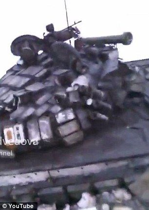 The grainy footage purported to show Russian tanks lying strew across the war-torn country...