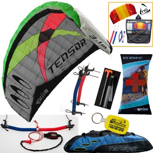 Prism Tensor 3.1 Power Foil Kite (Blue) 3-Line Control Bar Traction Trainer Bundle: Includes 2ND Kite : HQ Symphony Beach II 1.3M Foil Kite + Prism Kite Repair Kit + WBK Kiteboarding Key Fob Accessory Snow Traction - http://worldofkitesurfing.com/kitesurf/equipment-kitesurf/prism-tensor-3-1-power-foil-kite-blue-3-line-control-bar-traction-trainer-bundle-includes-2nd-kite-hq-symphony-beach-ii-1-3m-foil-kite-prism-kite-repair-kit-wbk-kiteboarding-key-fob-accessory/