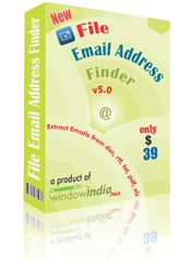 The File Email Address Finder is an effective email extractor software which can extract emails from different document files. It can extract an email from text file like doc, docx, dot, xls, xlsx, html, etc. It can extract email addresses from different files which meets the search criteria in the most efficient manner. The email extractor can automatically remove any duplicated email addresses. It has the feature of filtering out the email addresses.