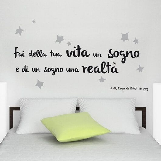 wall sticker frasi