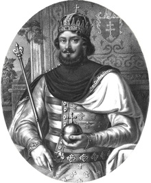 Louis the Great was King of Hungary and Croatia from 1342 and King of Poland from 1370 until his death. He was one of the most active and accomplished monarchs of the Late Middle Ages, extending territorial control to the Adriatic and securing Dalmatia, with part of Bosnia, within the Holy Crown of Hungary. Louis is the first European monarch who came into collision with the Ottoman Turks. During his reign Hungary reached the peak of its political influence.