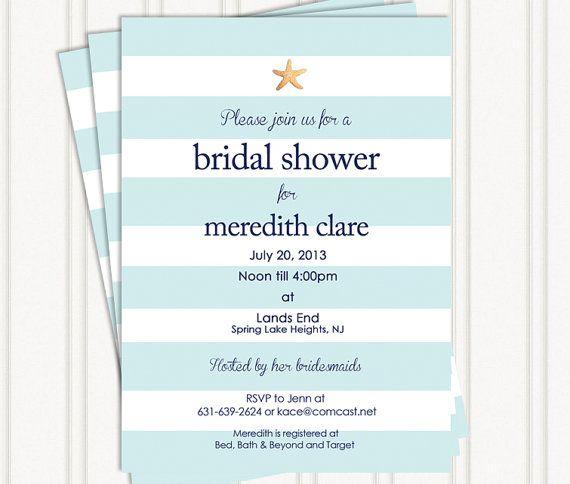 Beach Bridal Shower Invitations on Etsy, $16.50