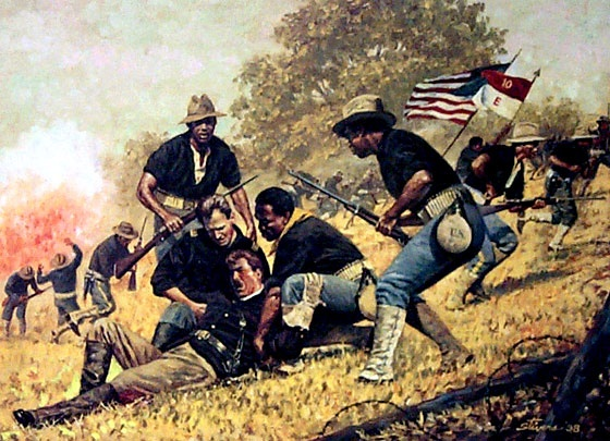 rough riders cavalry painting | Thread: Buffalo Soldiers at San Juan Hill 1898
