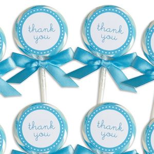 Blue Lollipop Favors