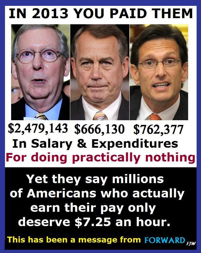 Wise up people! This crew has done nothing but Obstruct & will do noting for anyone but themselves. We cannot afford to continue to let these people destroy our economy, the middle class....Our Country!
