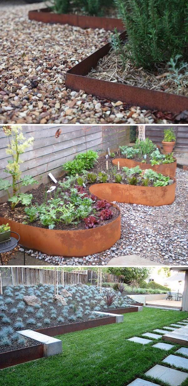 Metal Landscape Edging For A Rustic Look and Feel  #gardenedging #gardening #LandscapeEdging
