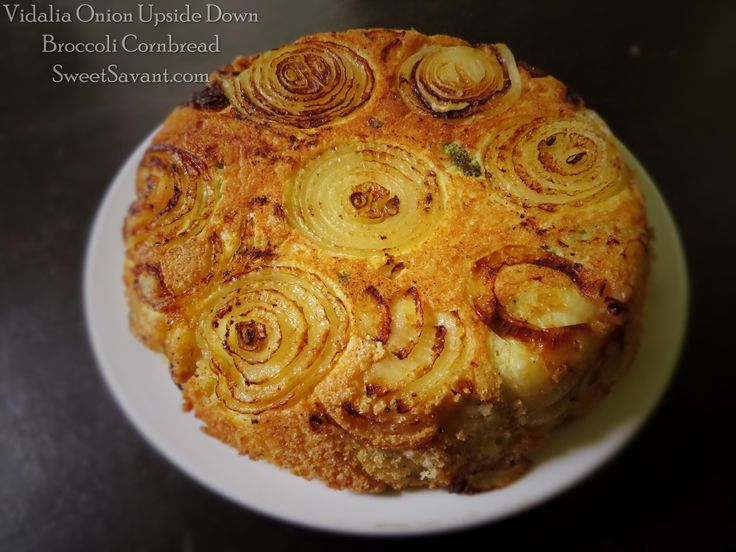 The ORIGINAL Vidalia Onion upside down cornbread recipe! This is HEAVEN on your plate, so moist and delicious. SweetSavant.com America's best food blog