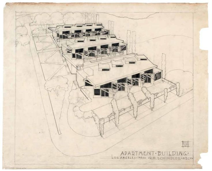 R.M. Schindler. T. Falk Apartments. 1943