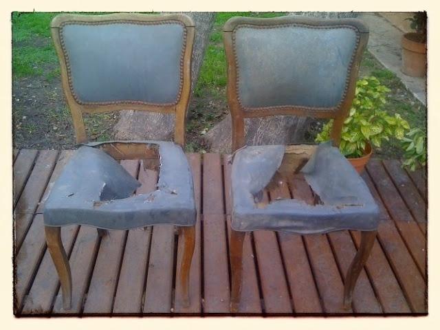 Reciclado de sillas (antes) - Upcicled chairs (before) - Mamy a la obra