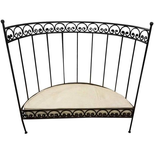 Medi Half Moon Wrought Iron Moroccan Bench Cushion And Pillows
